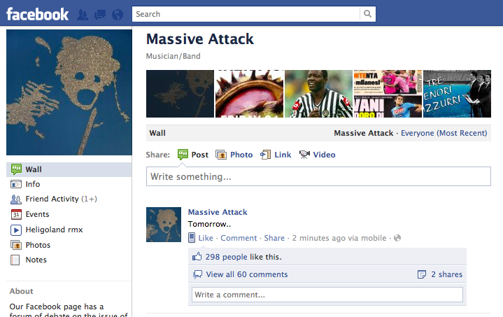 Massive Attack To Announce Something Tomorrow 2020k