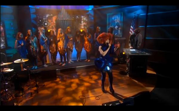 Bjork Cosmogony Stephen Colbert