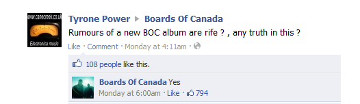 Boards Of Canada Confirmation Facebook
