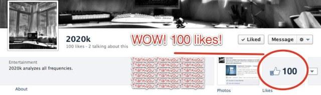 2020k 100 Likes